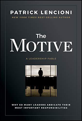 Portada del libro The Motive, Patrick Lencioni